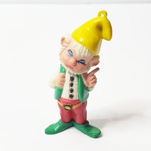 Vtg Elf Gnome Christmas Ornament Red Green Holiday